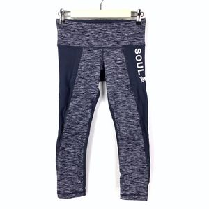 Soulcycle Cropped Leggings Heathered Space Blue